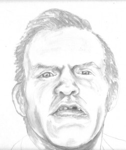 A drawing of Sandy Crichton by his wife, Holly.